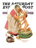 """Saturday Night Bath,"" Saturday Evening Post Cover, September 24, 1932 Giclee Print by Joseph Christian Leyendecker"
