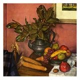 """Fruit Still Life,""November 1, 1950 Giclee Print by Luigi Lucioni"