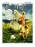 """Family in Field of Buttercups,"" Country Gentleman Cover, June 1, 1929 Giclee Print by Haddon Sundblom"