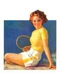"""Tennis Time-Out,""July 20, 1935 Giclee Print by Walt Otto"