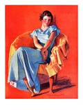 """Woman in Chair,""September 1, 1934 Giclee Print by F. Sands Brunner"