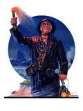 """""""Signaller,""""December 19, 1931 Giclee Print by J.F. Kernan"""