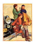 """Women in Riding Habits,""January 6, 1934 Giclee Print by John LaGatta"