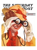 """Racing Spectator,"" Saturday Evening Post Cover, August 21, 1937 Giclee Print by Alfred Panepinto"
