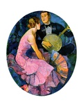 """Banjo Serenade,""April 11, 1931 Giclee Print by John LaGatta"
