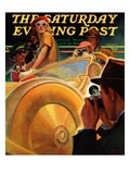 """Photo Opportunity,"" Saturday Evening Post Cover, December 4, 1937 Giclee Print by Michael Dolas"