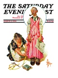 """Living Mannequin,"" Saturday Evening Post Cover, March 5, 1932 Giclee Print by Joseph Christian Leyendecker"