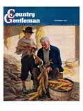 """Drying Field Corn,"" Country Gentleman Cover, November 1, 1944 Giclee Print by Newell Convers Wyeth"
