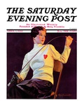 """Female Fencer,"" Saturday Evening Post Cover, April 1, 1933 Giclee Print by Alfred F. Cammarata"