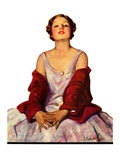 """Woman in Red Stole,""July 22, 1933 Giclee Print by Penrhyn Stanlaws"