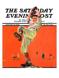 """The Windup,"" Saturday Evening Post Cover, August 18, 1934 Giclee Print by Eugene Iverd"