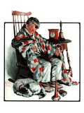 """Waiting for the New Year,""January 3, 1925 Giclee Print by William Meade Prince"