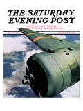 """Propeller,"" Saturday Evening Post Cover, August 7, 1937 Giclee Print by Ivan Dmitri"