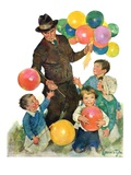 """Balloonman,""May 9, 1931 Giclee Print by Ellen Pyle"