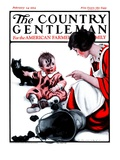 """""""Passing the Blame,"""" Country Gentleman Cover, February 24, 1923 Giclee Print by Katherine R. Wireman"""