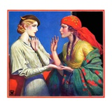 """Fortune Teller,""March 1, 1934 Giclee Print by Wladyslaw Benda"
