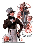 """Easter Finery,""April 11, 1925 Giclee Print by J.C. Leyendecker"