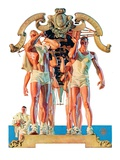 """Rowing Team,""August 6, 1932 Giclee Print by J.C. Leyendecker"