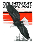 """Soaring Eagle,"" Saturday Evening Post Cover, March 22, 1924 Giclee Print by Charles Bull"