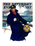 """Coast Guard,"" Saturday Evening Post Cover, February 11, 1933 Giclee Print by Edgar Franklin Wittmack"