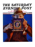 """Box Camera,"" Saturday Evening Post Cover, March 4, 1933 Giclee Print by Charles Hargens"