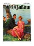 """Boys Eavesdropping on Courting Couple,"" Country Gentleman Cover, August 1, 1930 Giclee Print by Frank Bensing"