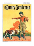 """Go Home, Boy!,"" Country Gentleman Cover, November 1, 1928 Giclee Print by William Meade Prince"