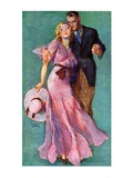 &quot;Out on a Date,&quot;July 14, 1934 Giclee Print by John LaGatta