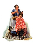 """Kitchen Haircut,""November 11, 1933 Giclee Print by Harold Anderson"