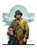 """Storm at Sea,""November 6, 1926 Reproduction procédé giclée par Edgar Franklin Wittmack"