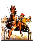 """Harness Race,""August 17, 1935 Giclee Print by Maurice Bower"
