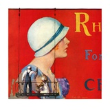 """Billboard Painters,""July 9, 1932 Giclee Print by Penrhyn Stanlaws"