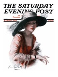 """He's Late,"" Saturday Evening Post Cover, March 8, 1924 Giclee Print by R.M. Crosby"