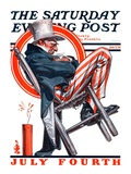 """Sleeping Uncle Sam,"" Saturday Evening Post Cover, July 5, 1924 Giclee Print by J.C. Leyendecker"