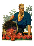 """Bushel of Apples,""November 14, 1931 Giclee Print by John E. Sheridan"