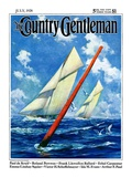 """Sailboat Race,"" Country Gentleman Cover, July 1, 1928 Giclee Print by Anton Otto Fischer"