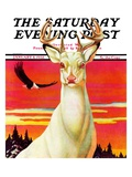 """Albino Deer,"" Saturday Evening Post Cover, January 8, 1938 Giclee Print by Jack Murray"
