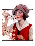 """Tree Blossoms,""May 16, 1925 Giclee Print by J. Knowles Hare"
