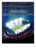 """Football Stadium at Night,"" Saturday Evening Post Cover, October 1, 1938 Giclee Print by Wesley Neff"