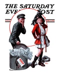 """Playing Dress-Up,"" Saturday Evening Post Cover, April 12, 1924 Giclee Print by Frederic Stanley"