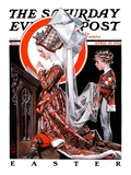 """Medieval Easter,"" Saturday Evening Post Cover, April 19, 1924 Giclee Print by Joseph Christian Leyendecker"
