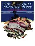 """Camping Out,"" Saturday Evening Post Cover, August 13, 1938 Giclee Print by Douglas Crockwell"