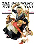 """""""In a Jam,"""" Saturday Evening Post Cover, November 28, 1931 Giclee Print by J.C. Leyendecker"""