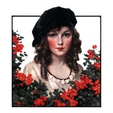 &quot;Young Woman and Flowers,&quot;May 17, 1924 Giclee Print by J. Knowles Hare
