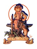 """Baby New Year at Forge,""January 1, 1938 Giclee Print by Joseph Christian Leyendecker"