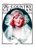 """June Bride,"" Country Gentleman Cover, June 7, 1924 Giclee Print by J. Knowles Hare"