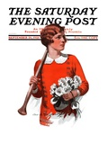"""Oars and Flowers,"" Saturday Evening Post Cover, September 26, 1925 Giclee Print by Charles A. MacLellan"