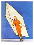 """Ice-Skating under Sail,""January 1, 1931 Giclee Print by McClelland Barclay"