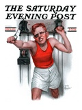 """Readying for Rematch,"" Saturday Evening Post Cover, June 9, 1923 Giclee Print by Leslie Thrasher"