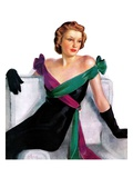 """Evening Gown,""May 21, 1938 Giclee Print by Neysa Mcmein"